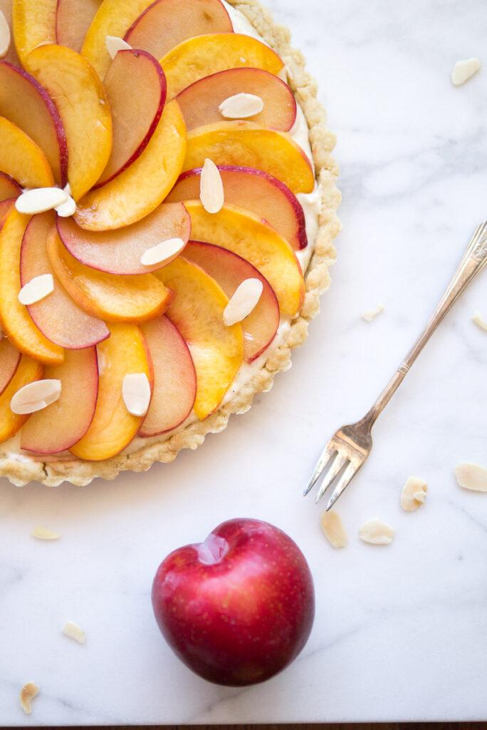 Peach Plum Tart with Cinnamon Pastry Cream
