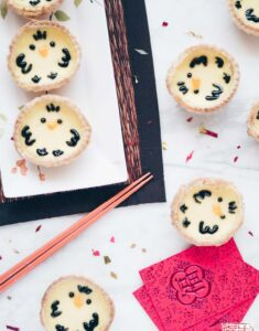 Chick Egg Custard Tarts for Chinese New Year