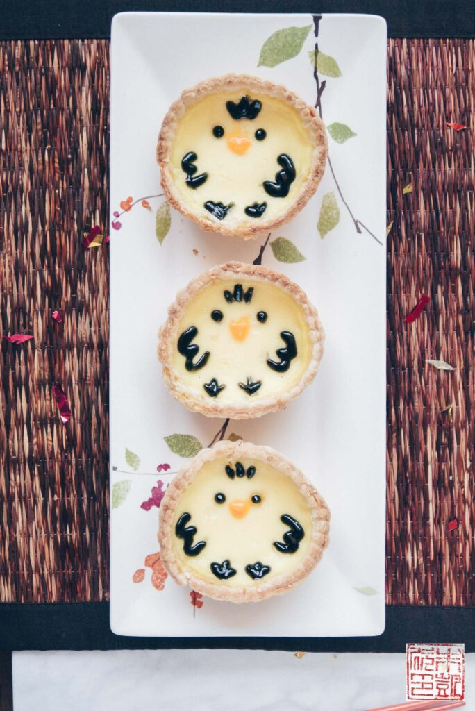 Chick Egg Custard Tarts Trio