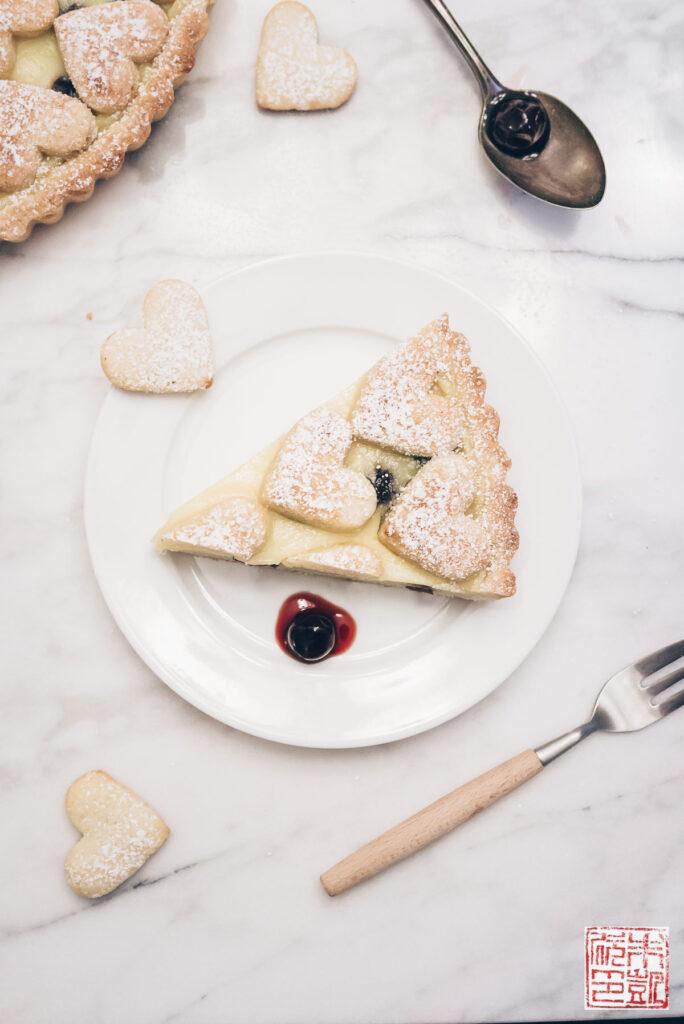 Italian Cherry Tart Slice