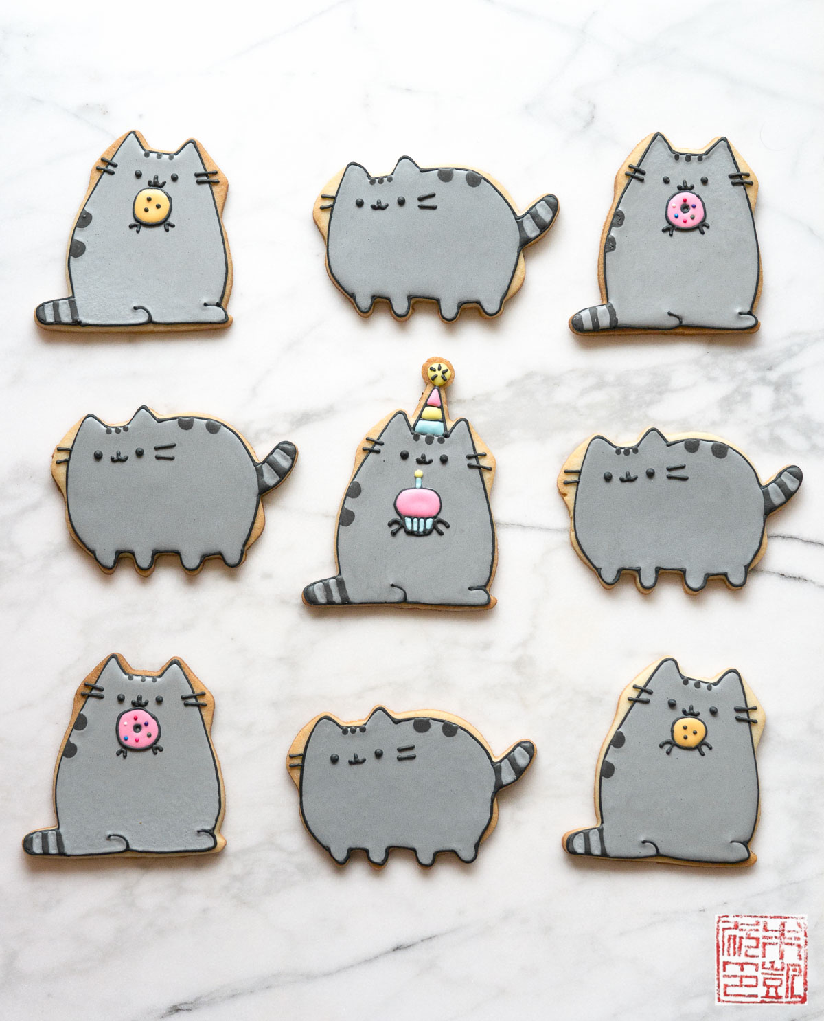 pusheen-birthday-cookies