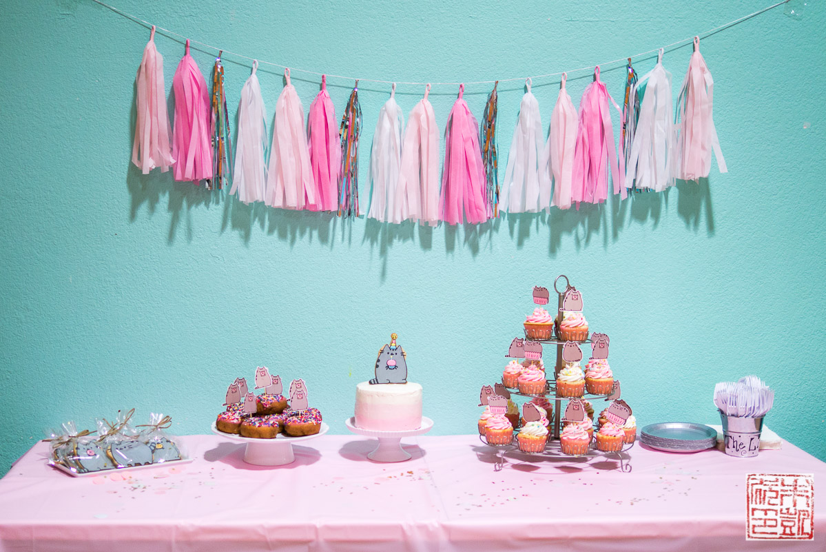 pusheen-party-dessert-table