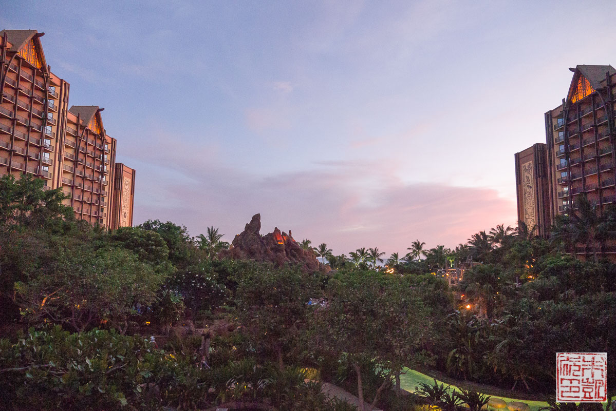 aulani-waterslide-evening