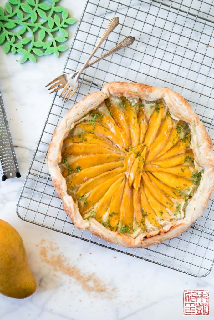 mango-lime-frangipane-galette-overhead