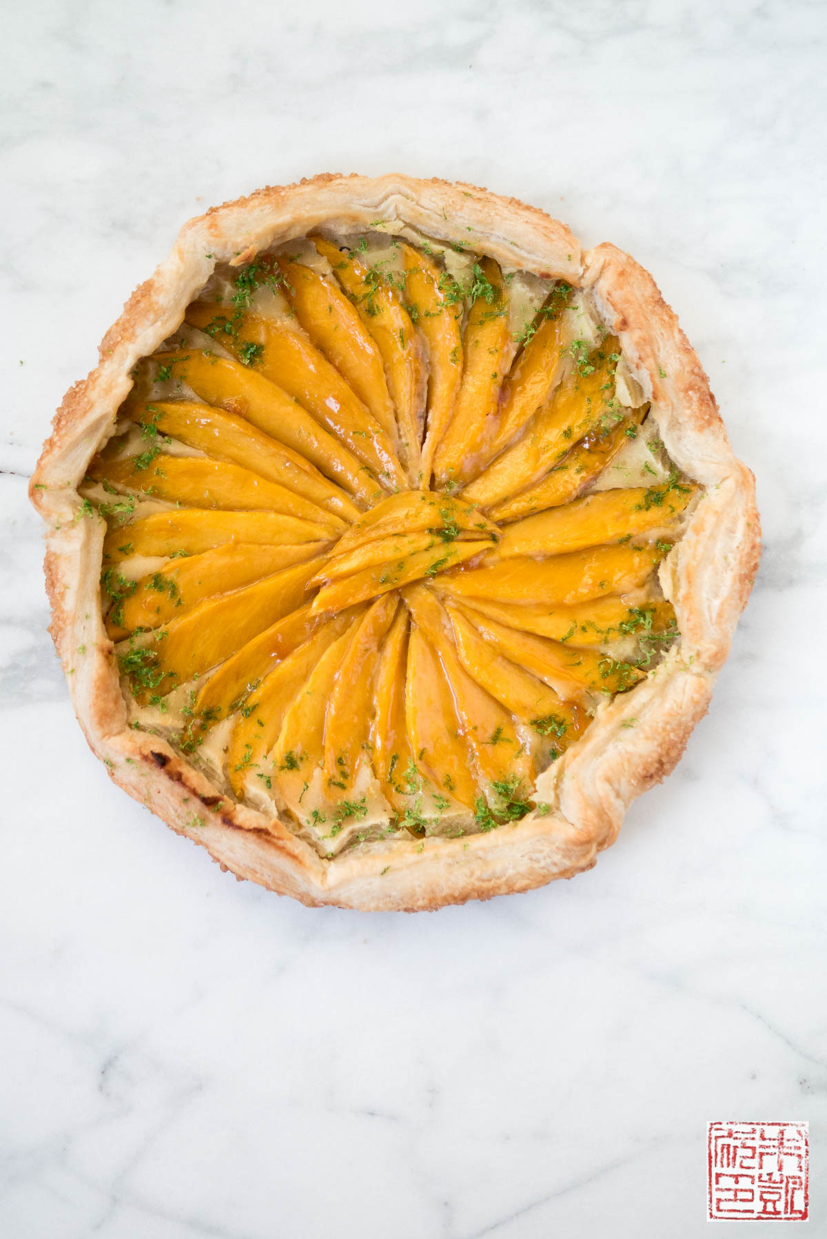 Mango and Lime Frangipane Galette - Dessert First