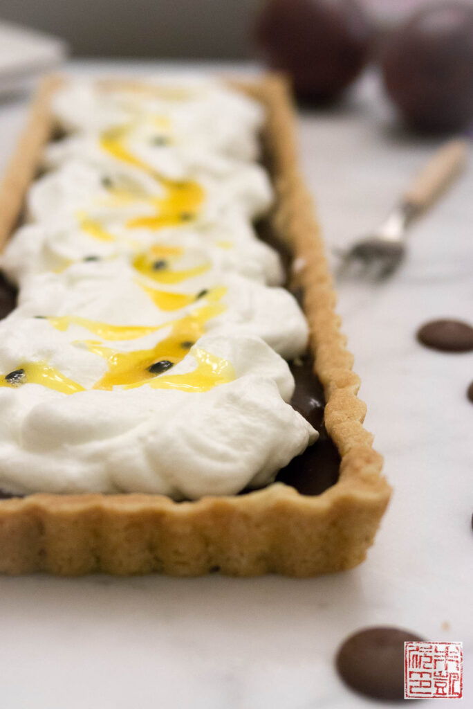 Passionfruit Chocolate Tart