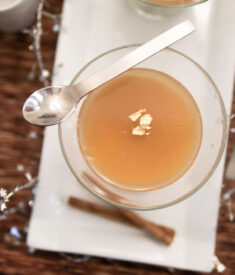 Vanilla Apple Cider Panna Cotta Overhead