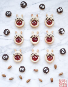 Christmastime is Here: Totoro Linzer Cookies