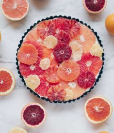 Winter Citrus Tart flatlay