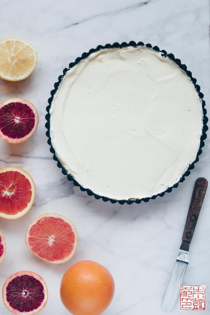 Winter Citrus Tart prep