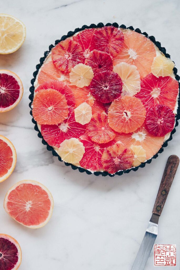 Winter Citrus Tart side