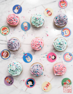 Superhero Girl Cupcakes