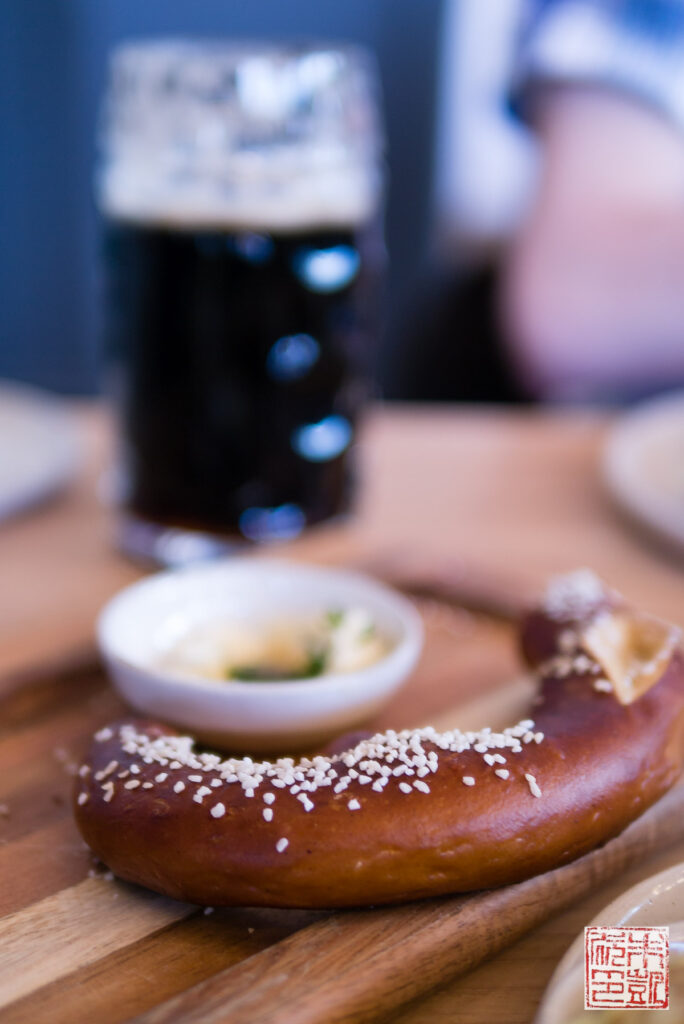 Wursthall Pretzel and Beer