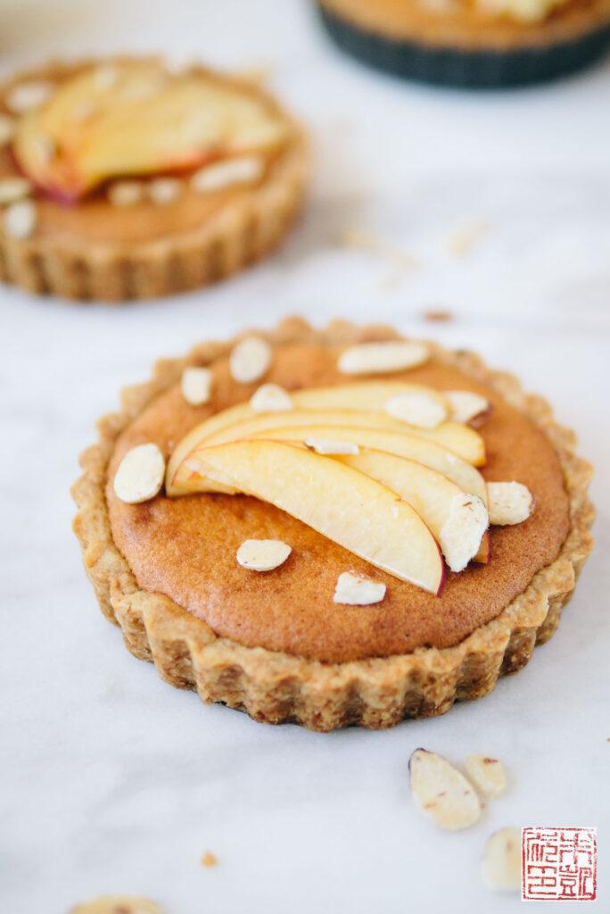 Nectarine Jam Tarts Closeup