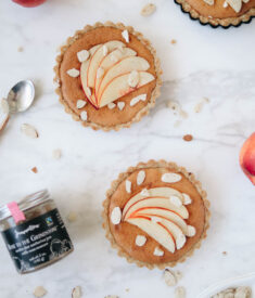 Nectarine Jam Tarts Flatlay