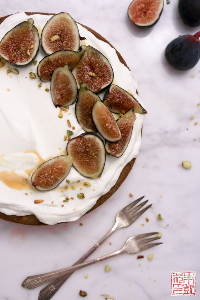 Fig Honey Cake Closeup