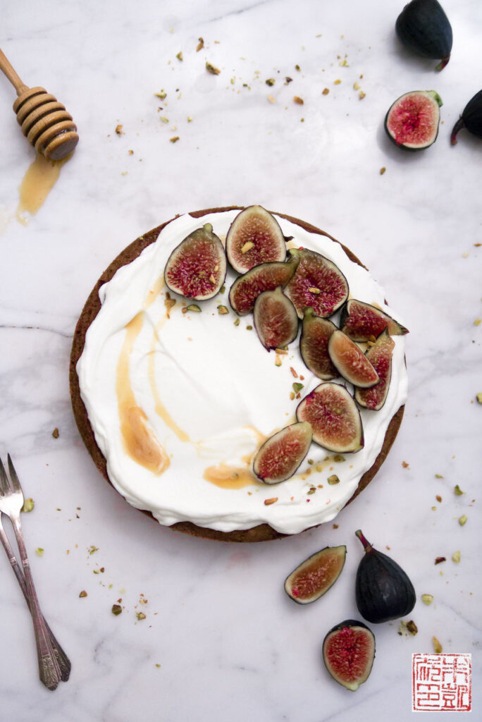 Fig Honey Cake Flatlay