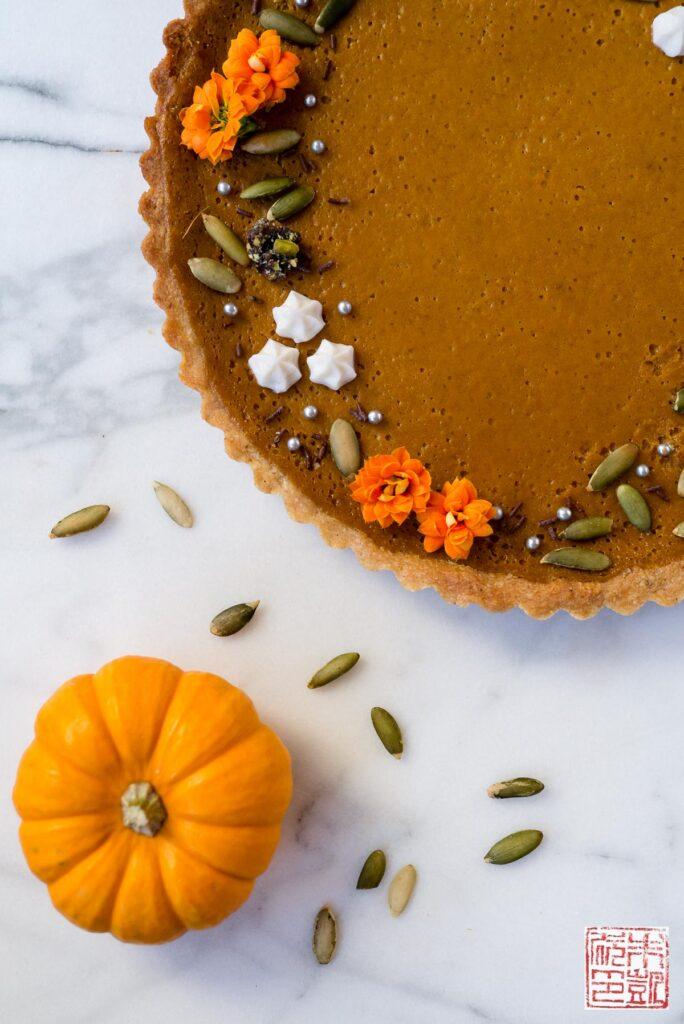 Autumn Pumpkin Tart Overhead