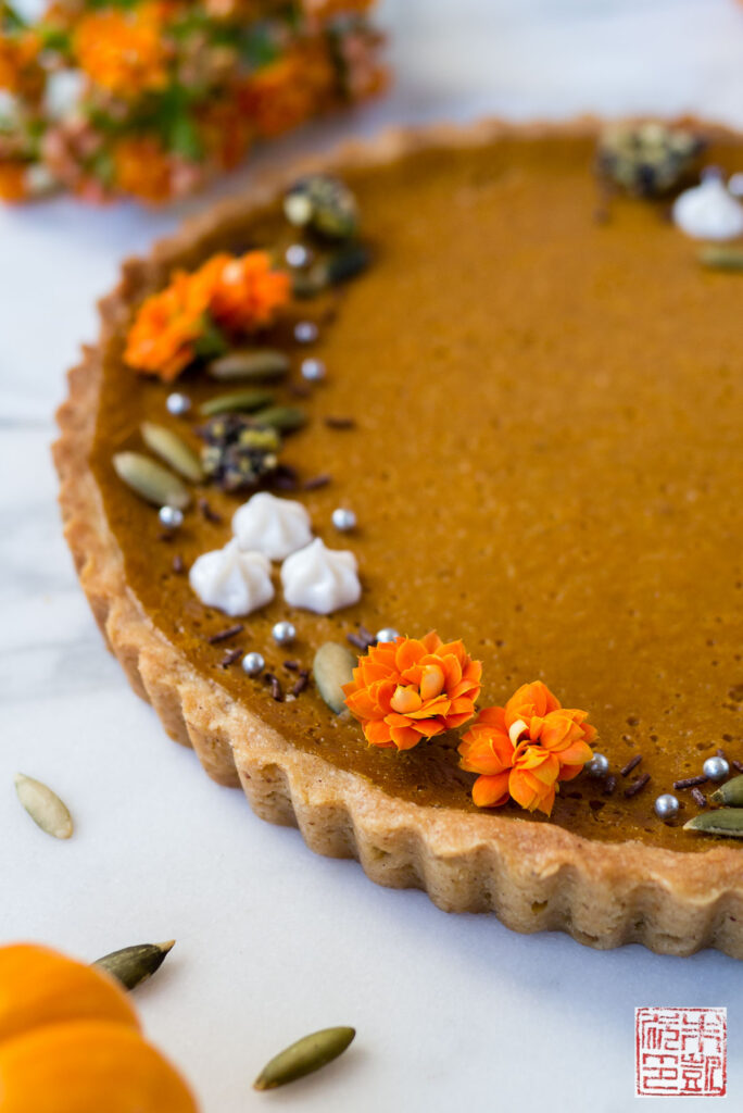 Autumn Pumpkin Tart Side