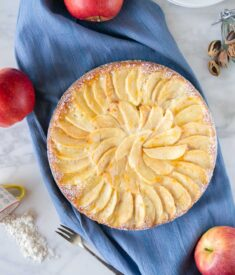 Apple Marzipan Cake Flatlay