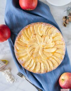 Apple Marzipan Cake