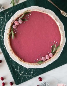 Cranberry Pomegranate Curd Tart