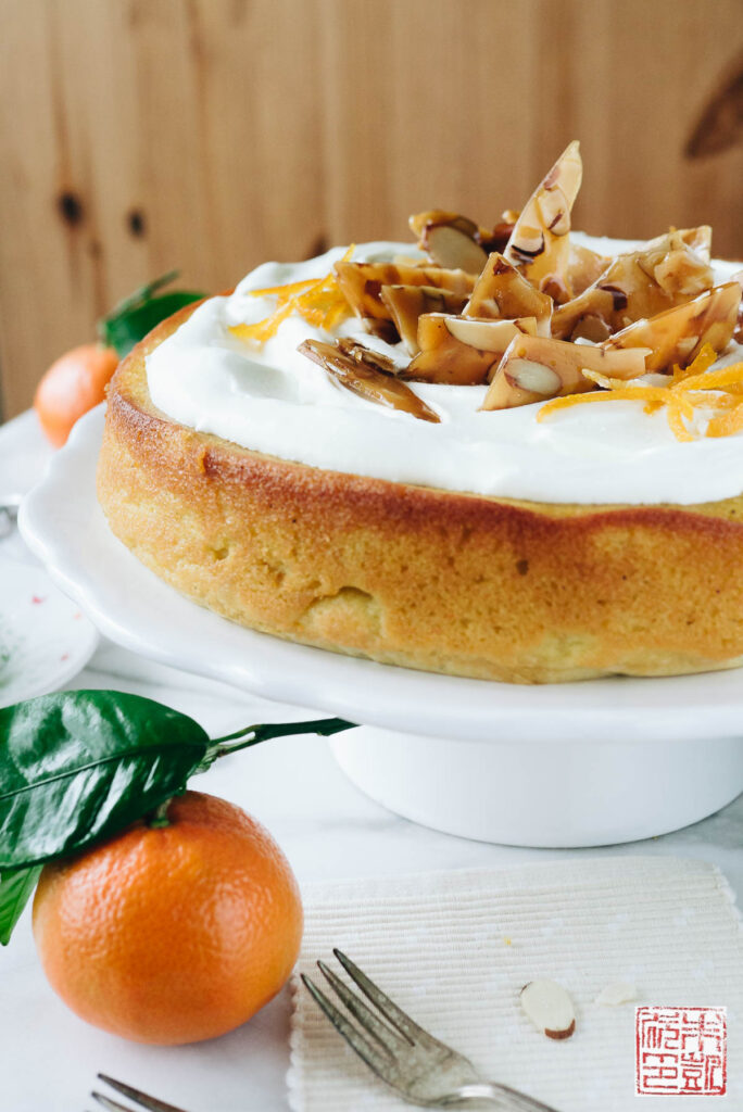 Clementine Cardamom Cake side