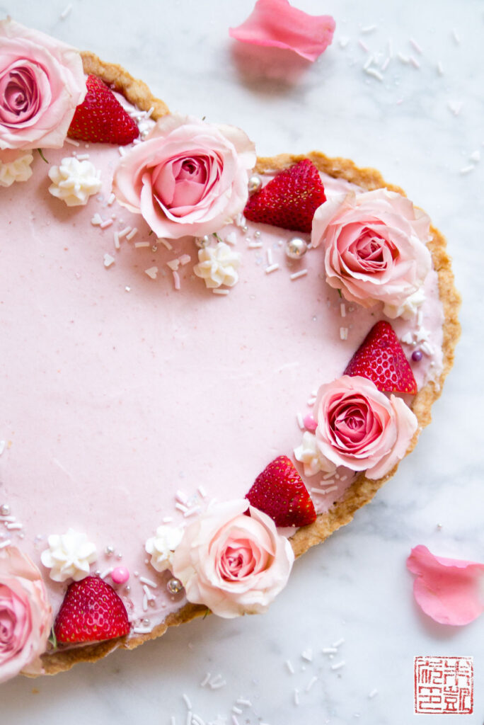 Strawberry Mousse Tart Angle