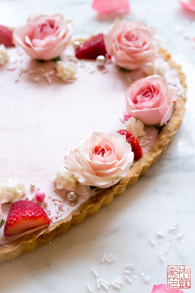 Strawberry Mousse Tart Side