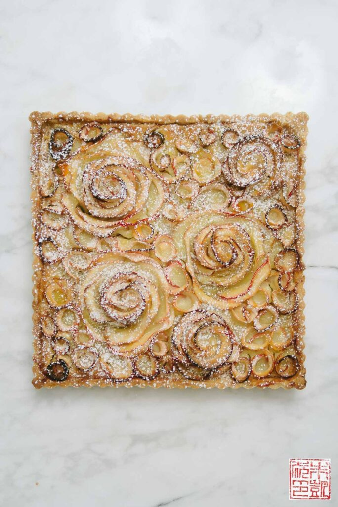 Apple Rose Frangipane Tart