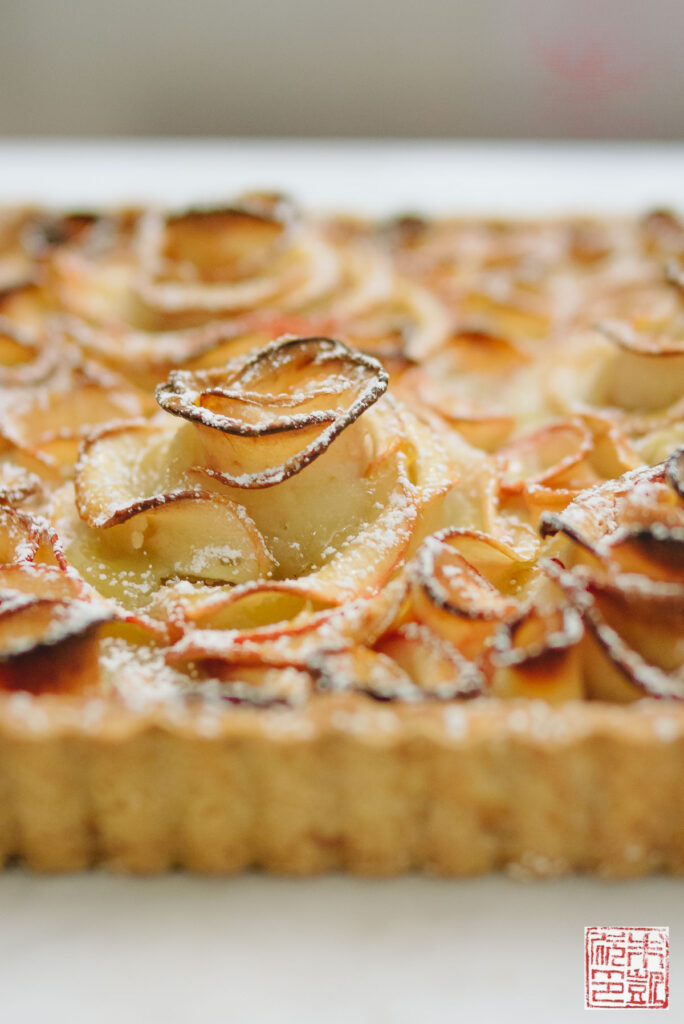 Apple Rose Tart Closeup