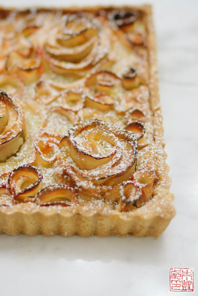 Apple Rose Tart Side