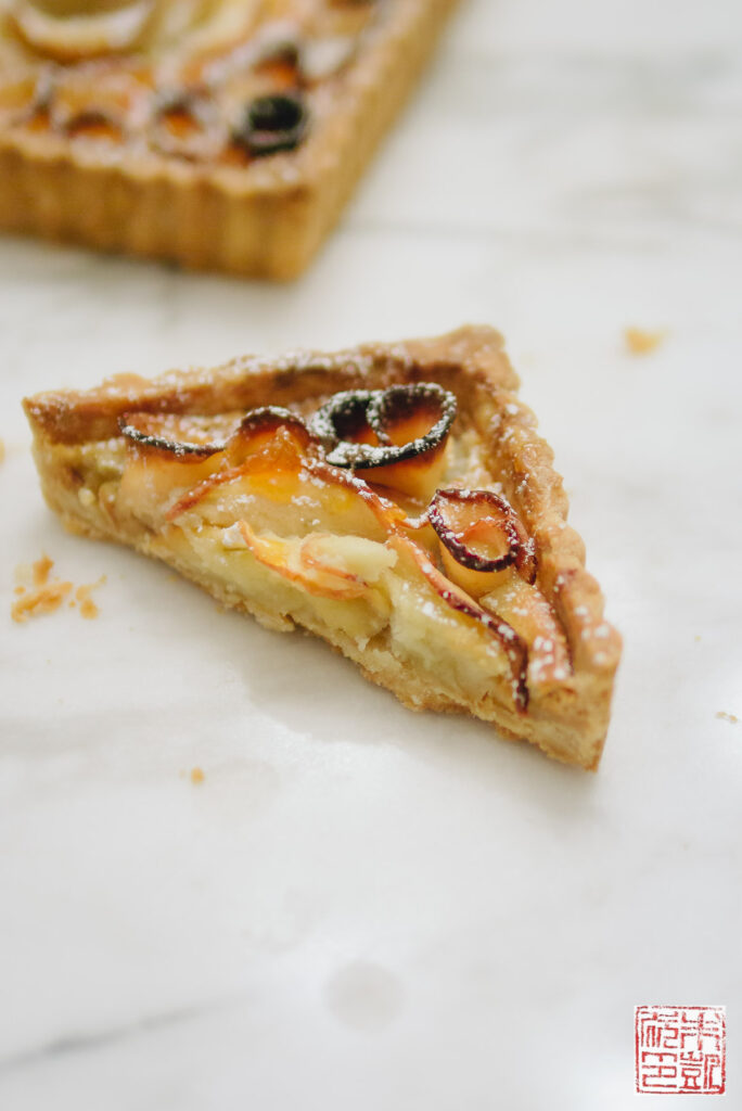 Apple Rose Tart Slice