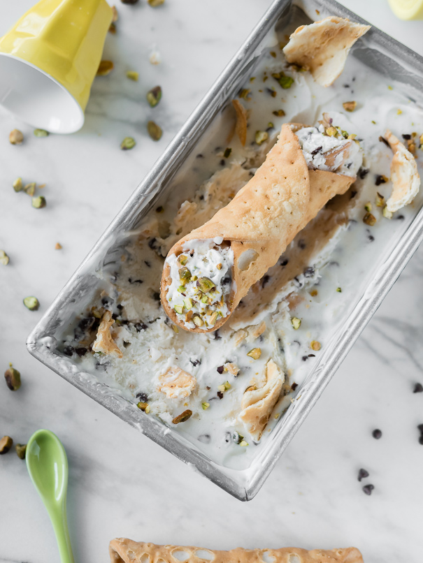 Cannoli Ice Cream Cannoli