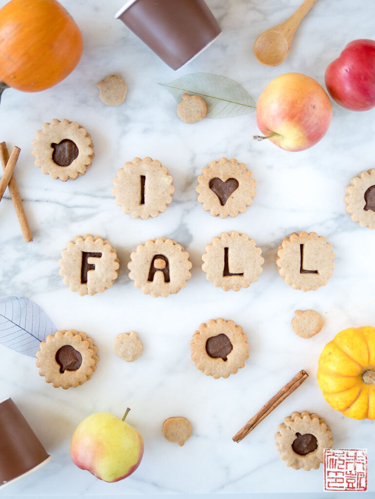 Apple Linzer Cookies Fall Flatlay