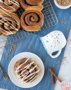 Pastry Love Cinnamon Roll Flatlay