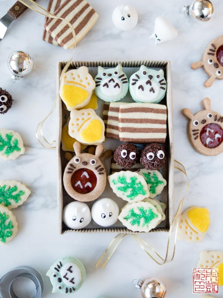 Totoro Cookie Box Flatlay