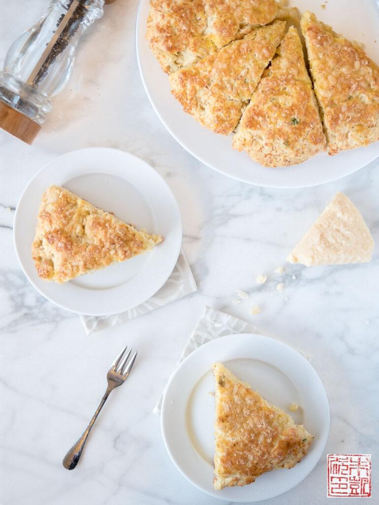 Parmesan Chive Scones Flatlay