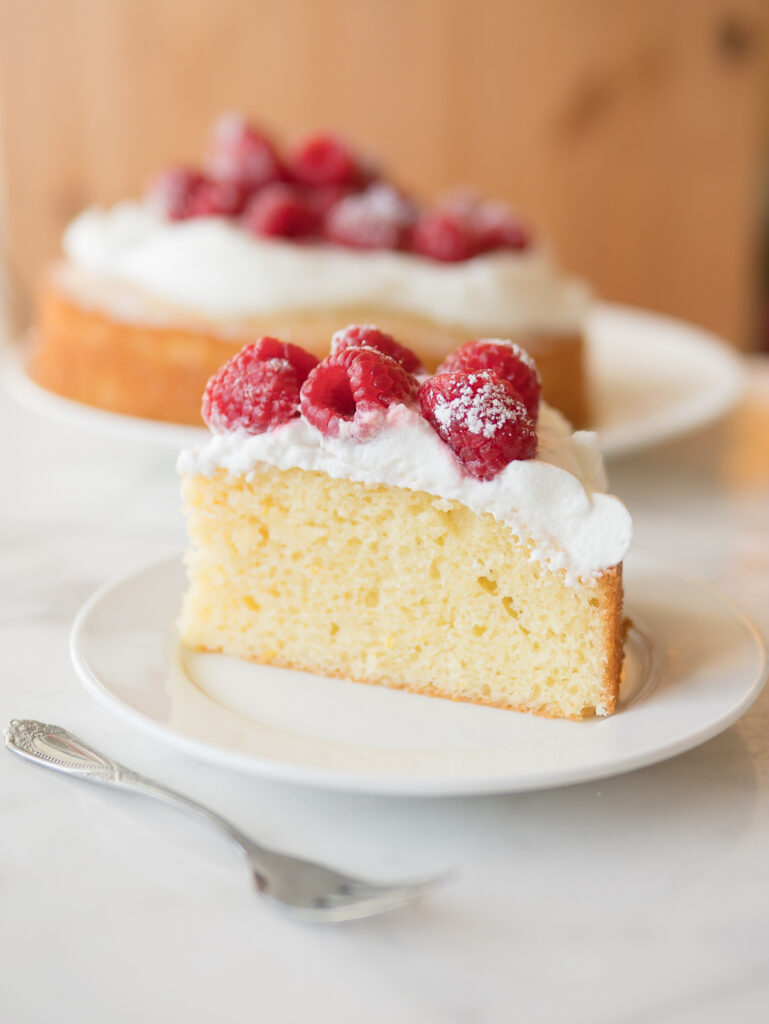 French Yogurt Cake Slice