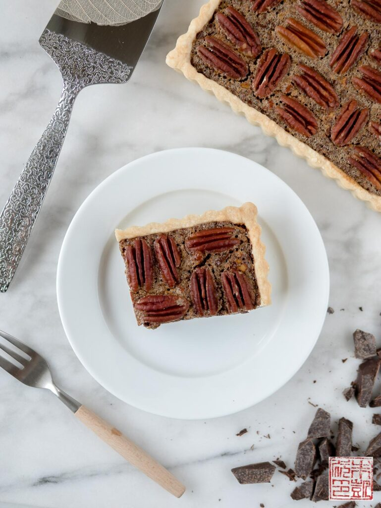 Chocolate Pecan Tart Slice