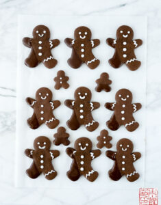 Chocolate Dipped Chocolate Gingerbread Cookies