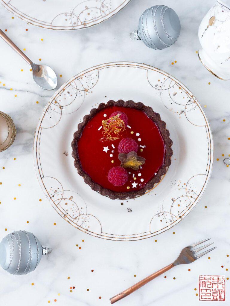 Raspberry Panna Cotta Tarts