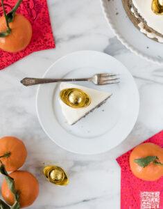 Black Sesame Cake with Tangerine Buttercream