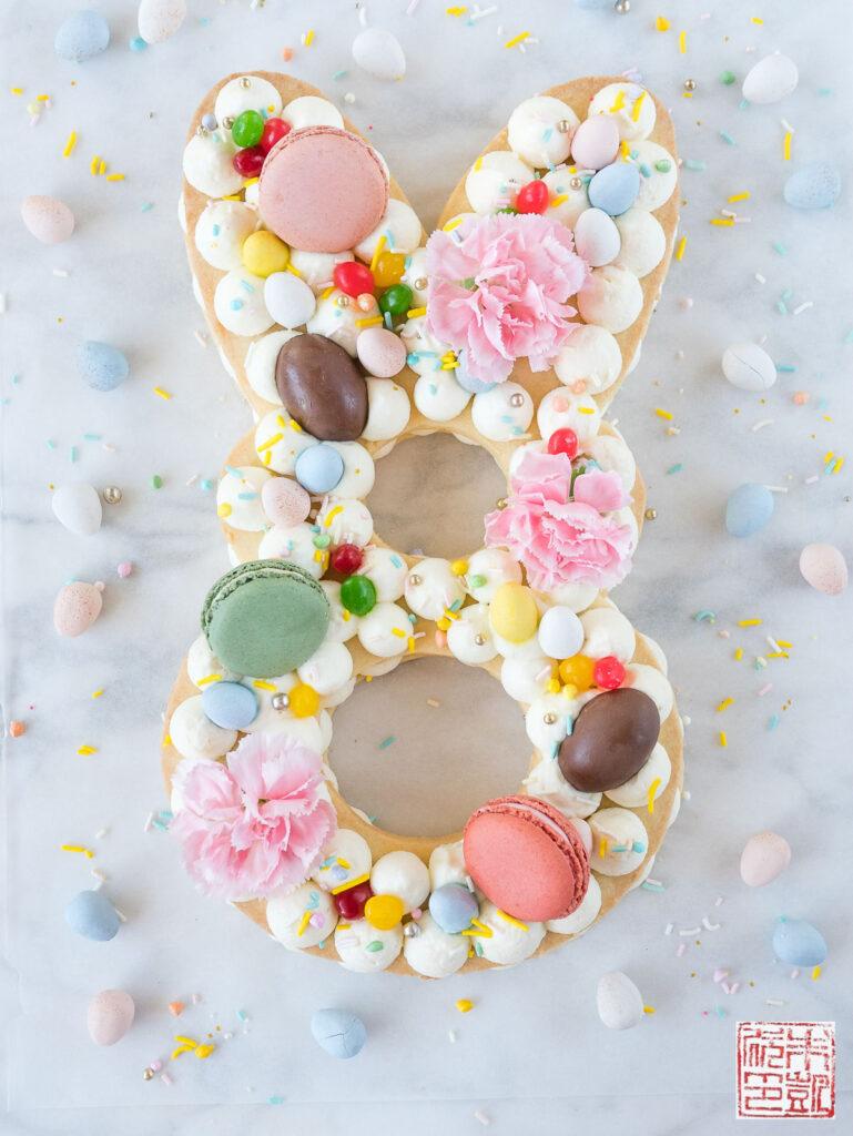 Bunny Cream Tart Flatlay