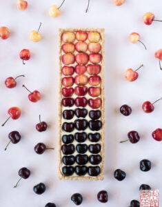Ombre Cherry Tart