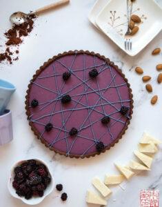 Olallieberry Tart with Chocolate Frangipane