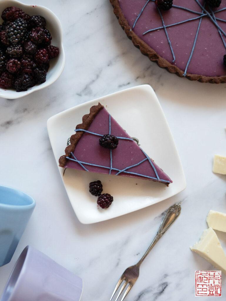 Olalliberry Tart Slice Flatlay