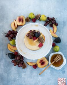 Honey Cheesecake with Fall Fruit