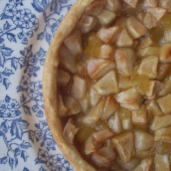 Apple tart with crystalized ginger shf