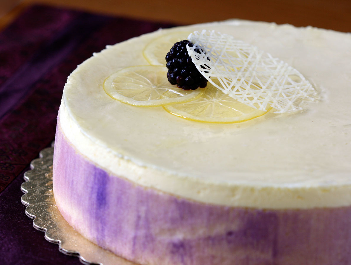 This was a class favorite: the Lemon and Blackberry Mousse Cake. We ...